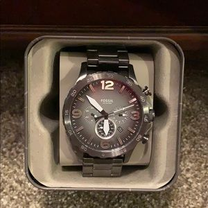 Men's large faced Fossil watch